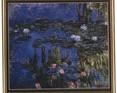 Monet's Water Lilies Counted Cross-Stitch Kit