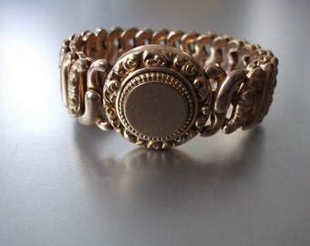 Signed Edwardian 1907 Antique Stretch The American Queen Bracelet