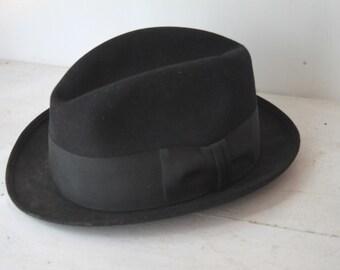 Vintage 1960s Royal Stetson Fedora Hat