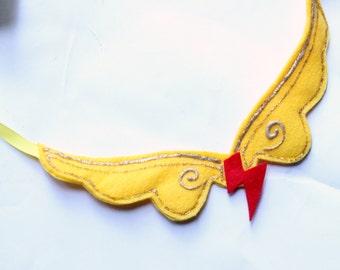 Elements of harmony - felt necklace - my little pony necklace - elements of harmony rainbow dash necklace