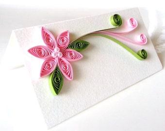 Wedding Place Card, Wedding Seating Card, Escort Card, Pink Wedding Table Decor