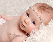 Rhinestone Headband, Baby Halo, Silver Tie Back, Ready To Ship, Photo Prop