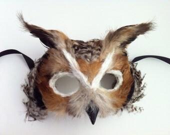 Great Horned Owl / Venetian Specialty Custom Animal Mask