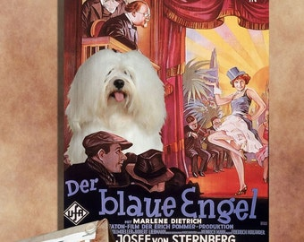 Coton de Tulear Vintage Movie Style Poster Canvas Print  New Collection by Nobility Dogs