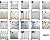Accent Pillows- Premier Prints Storm Grey Pillow Cover- 18x18 inches- Zippered Pillow- You Choose- Cushion Cover- Throw pillows- Toss