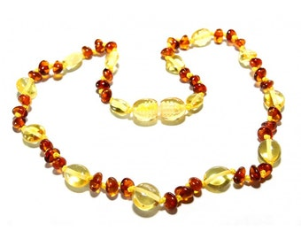 Baltic Amber Teething Necklace - Honey Lemon Variety - Made in Canada