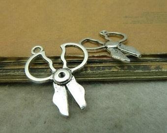 30pcs 20x27mm The Scissors Silver Color Retro Pendant Charm For Jewelry /Pendants C4850