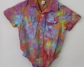 Tiedye upcycled Baby Gap 6-12 mo infant wear, linen/cotton