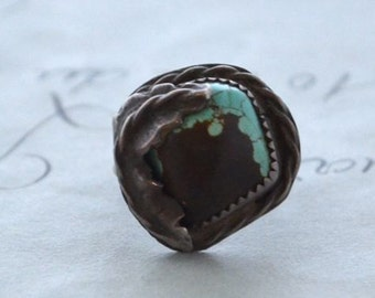 1950s Navajo Turquoise Ring - Size 4.25