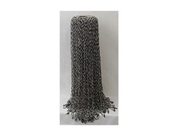 Vintage Antique Beaded Lampshade - 1950s or Earlier -  Black Cord Silver Glass Beads - OR Garment Embellishment