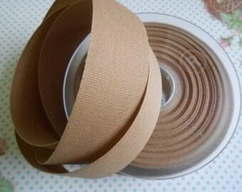 "Canvas Tape Light Brown Cotton 1 1/4""width  5yds"