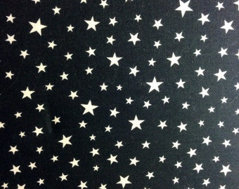 Sale Black fabric with stars  fabric by RJR