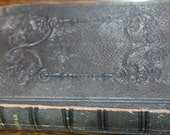 antique 1862 leather bound holy bible