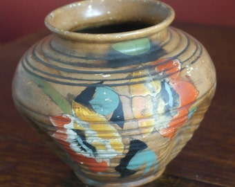 antique art deco studio pottery unusual vase
