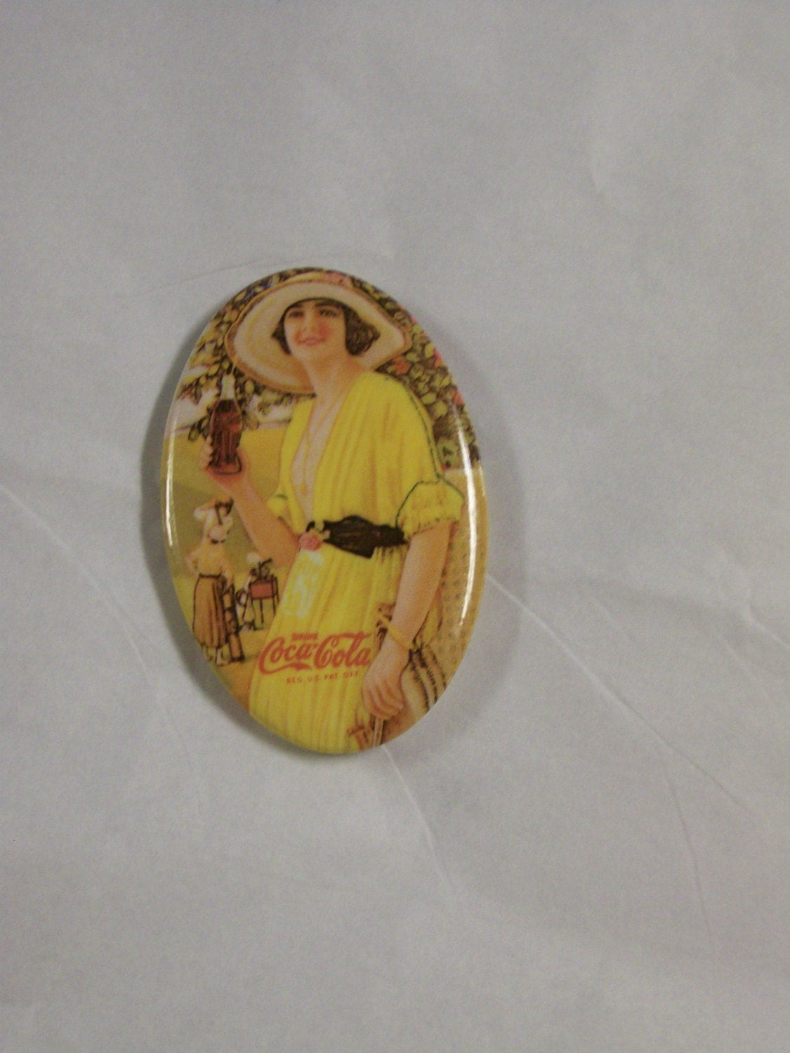 Coca Cola Pocket Mirror Vintage Reproduction By