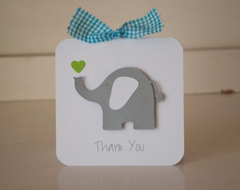 Elephant Thank You Cards Notes Baby Shower First Birthday Party Invitations Invites
