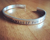What if you fly by Erin Hanson...cuff bangle...