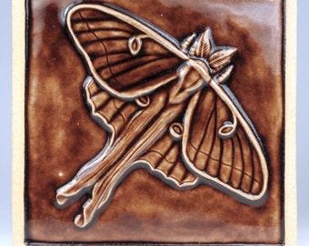 Luna Moth Ceramic Tile
