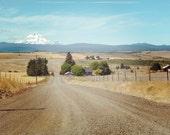 Mt. Hood print, Mt. Hood canvas, Country road print, country road canvas, Oregon photo, eastern washington, pacific northwest photo