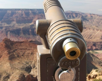 Grand Canyon print, Grand Canyon photo, Grand Canyon canvas, telescope, Arizona photo, Grand Canyon wall art