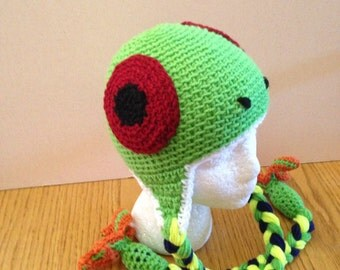 Crochet Tree Frog Hat