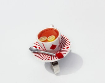 Alice in Wonderland ring Tea party ring food ring food jewelry