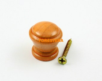 1Pcs Wood Knob Wooden Dresser Handle Drawer Knob Pull Cabinet Cupboard Handle Knob 24x24mm (WKN27)