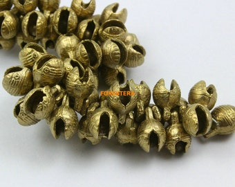 50Pcs 9mm Brass Tiger Bell Jingle Bell Pet Bell (HTLD9)