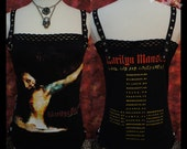Custom Size Made Marilyn Manson DIY Tank Top XS/S/M/L/XL Hollywood Gothic Goth Metal T-shirt reconstructed to womens sexy top