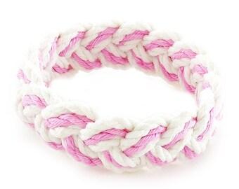 Pink and White Sailor Friendship Bracelet