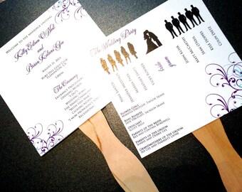 Wedding Fan Programs, Ceremony Programs, Fan Programs for Destination Weddings