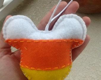 HALLOWEEN Mickey mouse Candy corn felt ornament set of 3