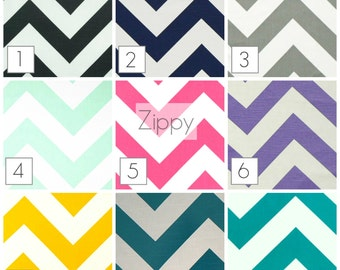 Zippy Big Chevron Curtains. 63, 84, 96, 108, 120 Lengths. Pair of 2 Window Treatments. Zig Zag Drapery Curtains.