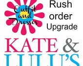 Outfit and Dress Rush Order - Upgrade
