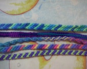 Yarn friendship anklets