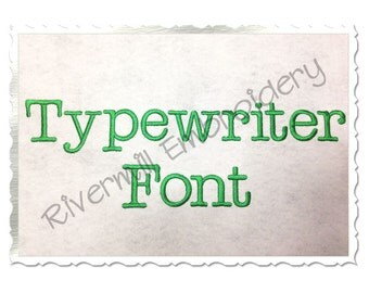 """Typewriter Machine Embroidery Font Alphabet -  1 1/2"""" Inch Size ONLY"""