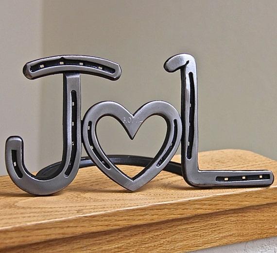 Horseshoe Heart Initials Wedding Decor Or Head Table