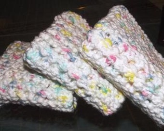 Knitted Dish/Wash Cloths~~~Set of 3