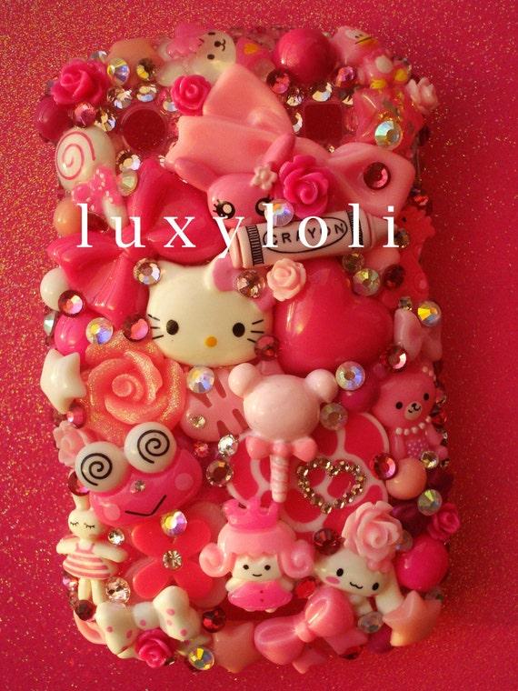 Kawaii Pink Blackberry 9900 9930 Decoden Phone Case
