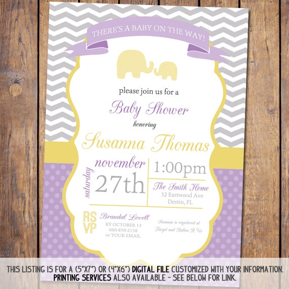 Modern Baby Shower Invitations: Modern Baby Shower Invitation With Chevron By