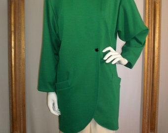 Vintage 1990's Ungaro Kelly Green Oversized Jacket - Size 4