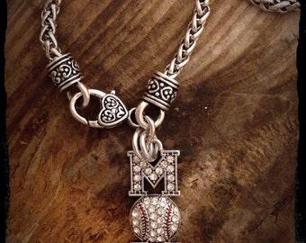 Baseball Mom, Baseball Necklace, Baseball Jewelry, Baseball, Team Mom
