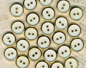 Lot of 25 Vintage Gold & Off White Sewing Buttons ~ 5/8 inch 15mm