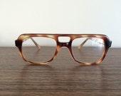 Vintage Brown Tortoise Shell Reading Glasses +2.25