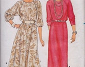 Butterick 3061 Misses' Dress Pattern, UNCUT, Size 12-14-16, Fast and Easy, Blouson Bodice, Pullover Dress, Vintage, Retro, Work Wear