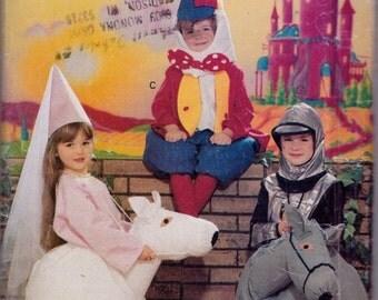 Butterick 4285, Size Small, Medium, Large, Children's/ Girls'/ Boys' Costume Pattern, UNCUT,Humpty Dumpty, Maiden on Horse, Knight on Horse