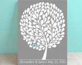 Wedding Guest Book Canvas - Bubble Tree - Peachwik Wedding Canvas - 150 guests -Personalized Bubblewik Tree - Wedding Gallery Wrapped Canvas