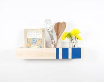 Box Shelf Wall Organizer - Modern Stripes - Vertical Garden, Kitchen Shelf, Book Shelf, Bathroom Storage - Custom Colors - 12 Inch