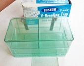 Vintage Five Way V-Breeding Trap Aquarium Supply Fish Breeding 1960's Lustar Trap Original Box
