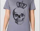 Royal Skull Unisex T Shirt American Apparel XS, S, M, L, XL 9 COLORS